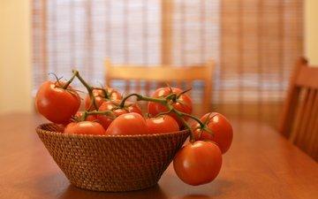 красные, стол, овощи, помидоры, томаты