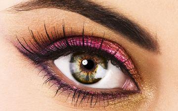взгляд, глаз, макияж, глазок, грим, сексапильная