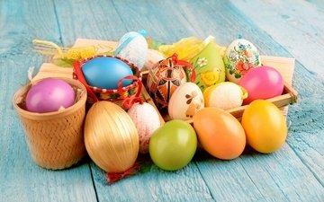 colorful, easter, eggs, khokhloma