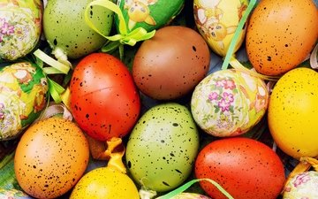 easter, eggs, decoration, happy