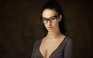 девушка, портрет, взгляд, модель, волосы, чёрные, алла бергер, максим максимов