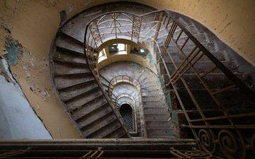 лестница, фон, стены