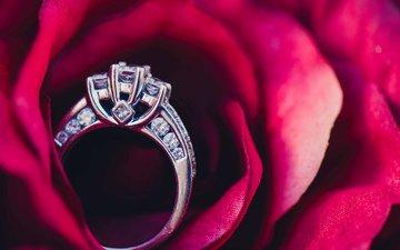 камни, кольцо, обручальное