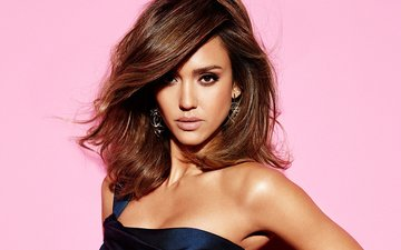 girl, look, model, face, actress, earrings, jessica alba