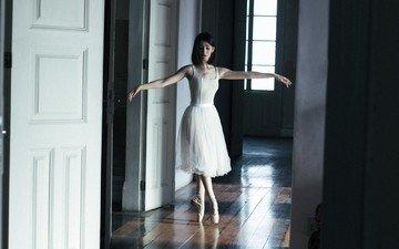 девушка, танец, балерина