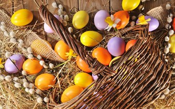 spring, easter, eggs, holiday, wood, verba, happy