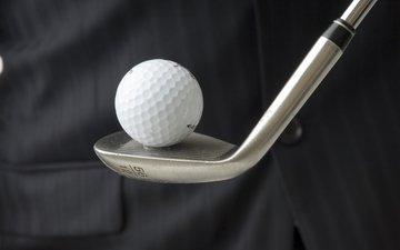 спорт, мяч, белая, гольф, бал