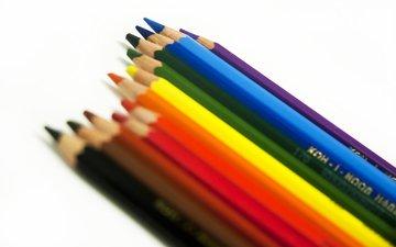 дерево, карандаши, цветные, расцветка, дерева, карандашами, графит