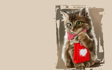 art, music, cat, kitty, headphones, puppy, apple, gift, player, children's, children's. lorri kajenna