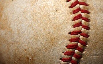 кожа, мяч, нити, бейсбол, бал, softball