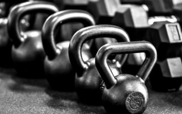 metal, black and white, dumbbells, gym, russian dumbbells