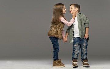 дети, девочка, джинсы, мальчик, девочки, маленькая, друзья, стильные, друганы