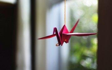 paper, origami, crane
