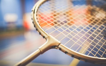 the game, racket, badminton