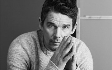 black and white, actor, photoshoot, ethan hawke, mark abrahams, california style