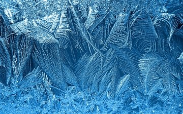 зима, снежинки, узор, мороз