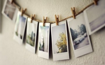 photos, clothespins, pictures