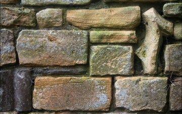 камни, стена, кирпичи