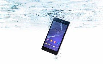 вода, пузырьки, сони, смартфон, xperia, z2, водонепроницаемый