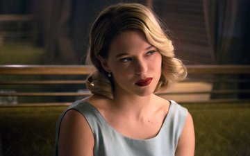 blonde, makeup, hairstyle, frame, spectre, lea seydoux, 007: range