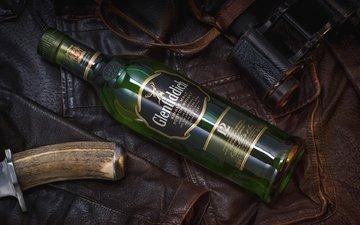стиль, кожа, бутылка, нож, куртка, виски, бинокль, шотландский