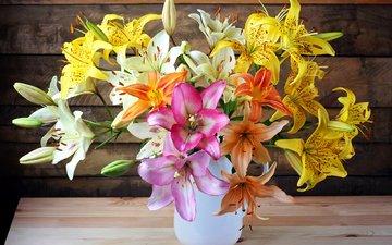 букет, лилии, букеты, lilies