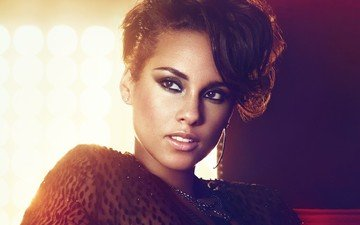 girl, face, singer, ring, makeup, alicia keys, alicia kis