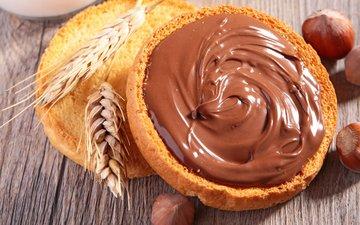 орехи, пшеница, выпечка, в шоколаде, булочка, гайки, baking, паста, шоколадная