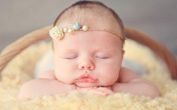 маленький, спит, ребенок, малыш, младенец, украшение, детские, пацан, infants, дремлет