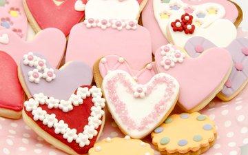 сердце, печенье, выпечка, глазурь, baking, фигурное, сладенько, сердечка