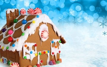 зима, конфеты, дом, домик, рождество, сладкое, выпечка, конфета, елочная, baking, сладенько
