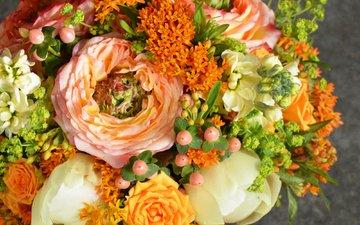 розы, букет, тюльпаны, тульпаны, роз