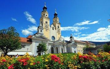италия, архитектура, курорт, собор санта мария ассунта, брессаноне, барокко