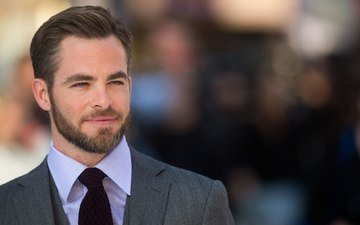 smile, look, actor, face, male, beard, chris pine