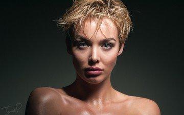 портрет, взгляд, лицо, макияж, взор, челка, грим, рози робинсон, the face, nпортрет