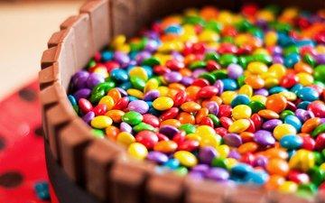 разноцветные, конфеты, шоколад, конфета, глазурь, в шоколаде, драже, сладенько