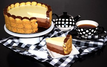чай, сладкое, торт, десерт, кулич, запеченная, сладенько