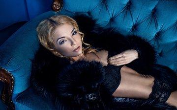 blonde, look, photographer, lips, sexy, body, linen, coat, the temptation, luxury, beautiful, face, touch, alexander mukhin
