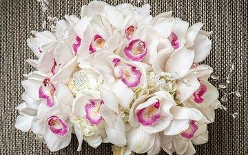 букет, белые, орхидеи, орхидею, букеты