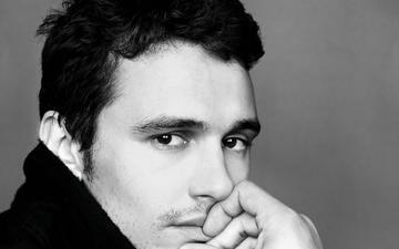портрет, взгляд, чёрно-белое, актёр, лицо, мужчина, джеймс франко