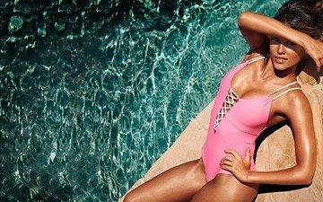 вода, взгляд, звезда, красавица, бассейн, ноги, грудь, актриса, купальник, тело, красотка, джессика альба, джесика альба, латина