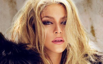 blonde, music, singer, shakira, celebrity