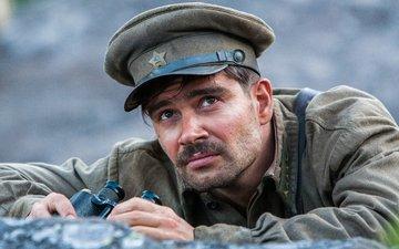 cap, frame, binoculars, the dawns here are quiet, pyotr fyodorov, petty officer, vaskov