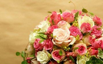 капли, розы, букет, роз, букеты