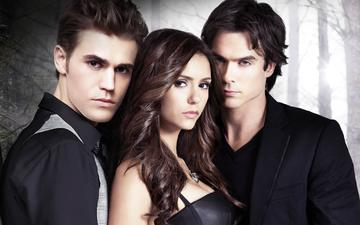 the vampire diaries, the series, nina dobrev, elena, stefan, damon, ian somerhalder, paul wesley, elena gilbert