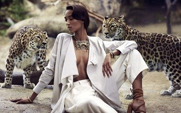 девушка, гепарды, gевочка, african beauties, bohemian style safari, mali, for harpers bazaar