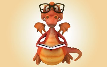dragon, 3d, funny