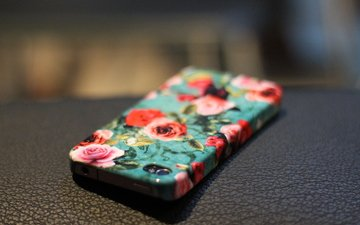 flowers, roses, phone, case, iphone