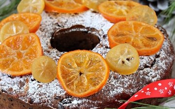 апельсин, выпечка, кекс