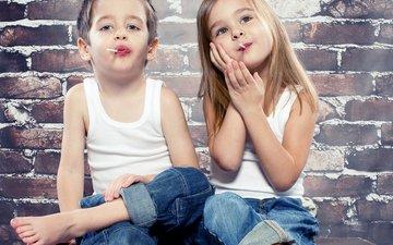 стиль, настроение, конфеты, дети, девочка, джинсы, мальчик, девочки, маленькая, друзья, друганы